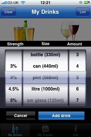 NHS Alcohol Tracker