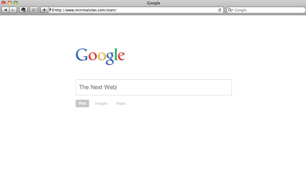 Two Minimalist Versions Of Google 39 S Homepage You Probably