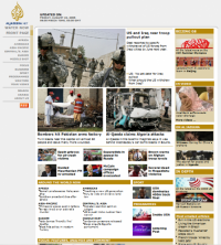 Old AlJazeera Egnlish Homepage which looked ugly for many, many years