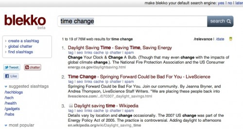 blekkotimechange2 500x265 The TNW Review: blekko   Is this finally a Google killer?