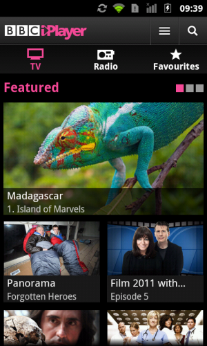 screenshot 2 300x500 BBC iPlayer Android App Launches