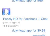 Facebook Bing iPhone
