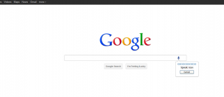 Google Voice Search Screen Shot