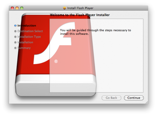 Flashback 520x386 New Mac Flashback trojan horse malware pretends to be Flash installer