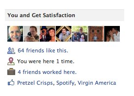 Get Satisfaction 1 Facebook changes coming fast and furiously, Company pages now say who has worked there
