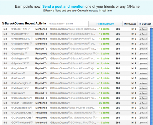 Picture 22 520x424 Klout has competition, Peoplebrowsr announces new social influence tracker, Kred
