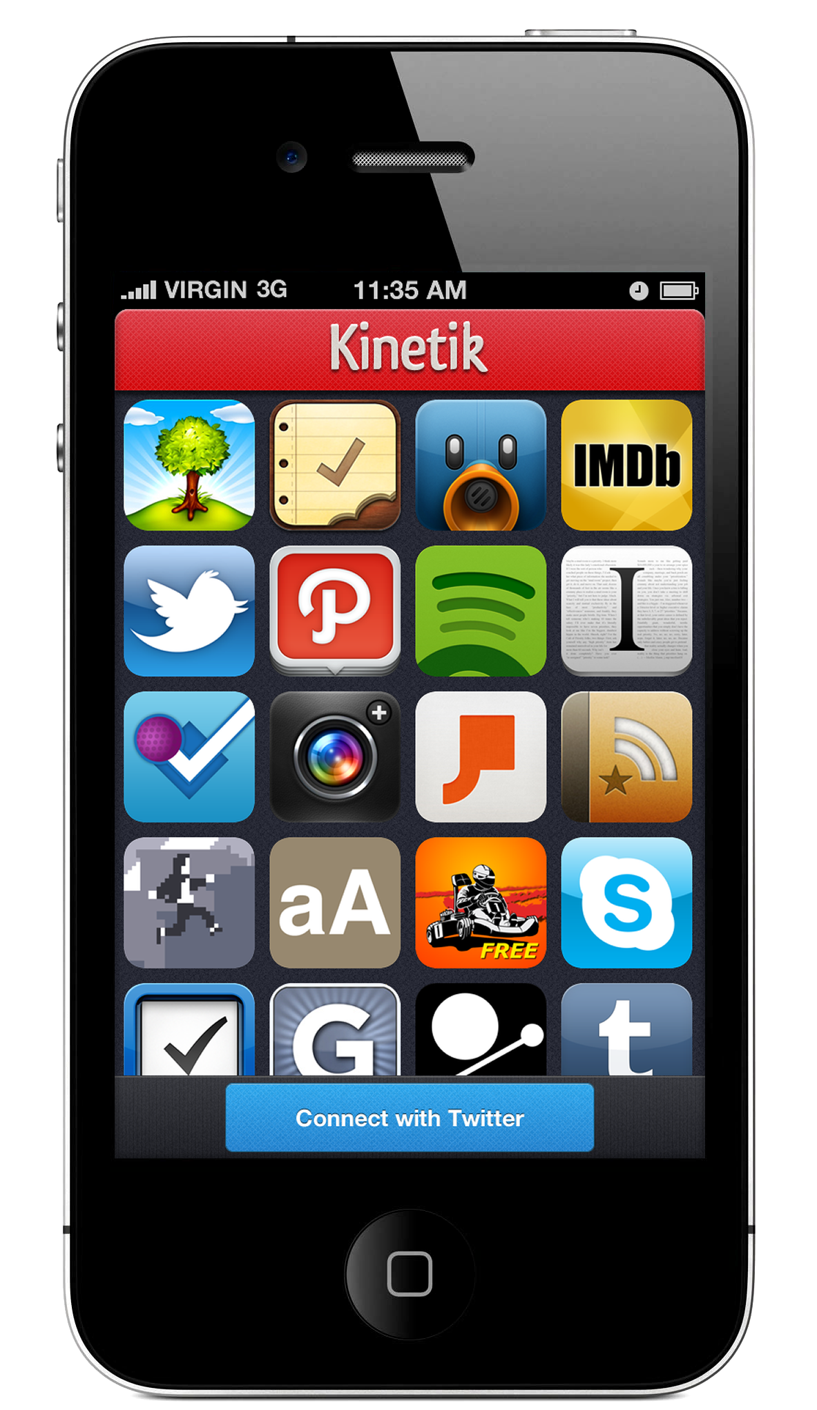 kinetik an iphone app that lets you find and share great iphone apps. Black Bedroom Furniture Sets. Home Design Ideas