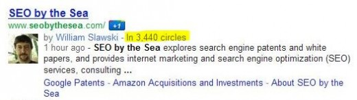 in circles 520x146 Number of Circles youre in on Google+ showing up in Google search