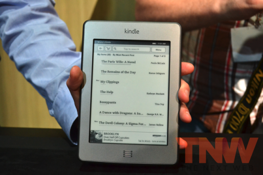 tnw16 520x346 Amazon announces Kindle touch for $99, Kindle touch 3G for $149, Nov 21st