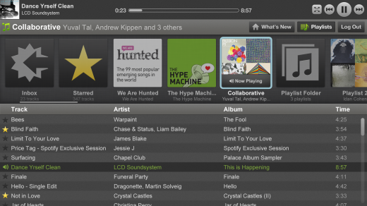 Boxee Spotify Playlist Collaborative 520x292 Spotify expands further into your living room with new Boxee integration
