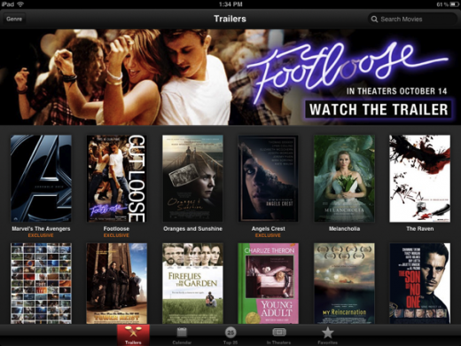 IMG 0737 520x390 Apple releases iTunes Movie Trailers for iOS   HD and exclusive included
