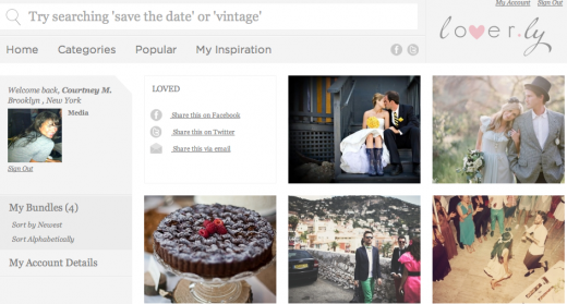 Screen shot 2011 10 11 at 3.00.02 PM 520x279 Lover.ly launches a visual search engine for weddings [Weve got Beta Invites!]