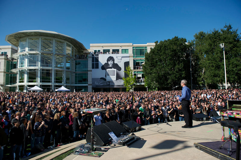 cel111019 3 Apples Celebrating Steve memorial event video is now available to the public (Update: and through YouTube)