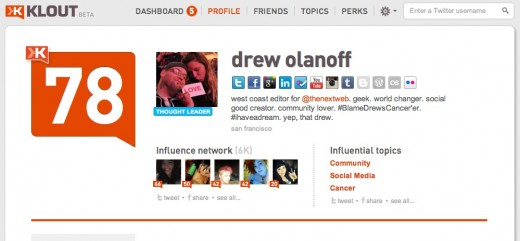 drew olanoff Klout Influence Report 520x241 Klout to update algorithm, launch score insights tomorrow