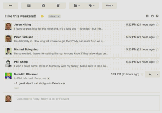 gmail new ui 5 520x363 Google to rollout a major facelift for Gmail