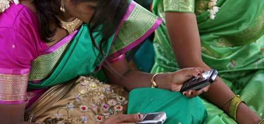 india mobile woman phone