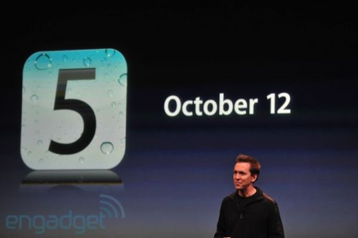 iphone5apple2011liveblogkeynote1293 520x345 Apples iOS 5: Official release on October 12th as a free update along with iCloud