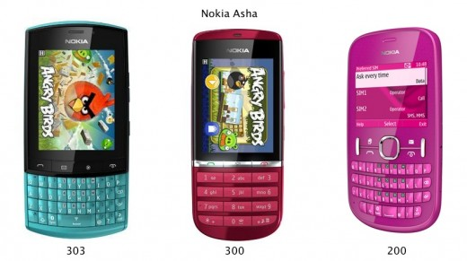 nokia asha1 520x291 Nokia introduces Asha, a new line of 'aspirational' phones for emerging markets