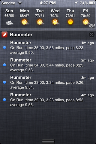 r notifications2 low Runmeter releases v6.0 to become the first fitness app to support iOS 5