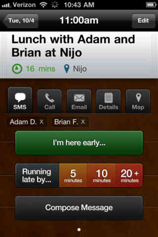 touchbase1 TouchBase app lets you interact with calendars and meetings in one touch