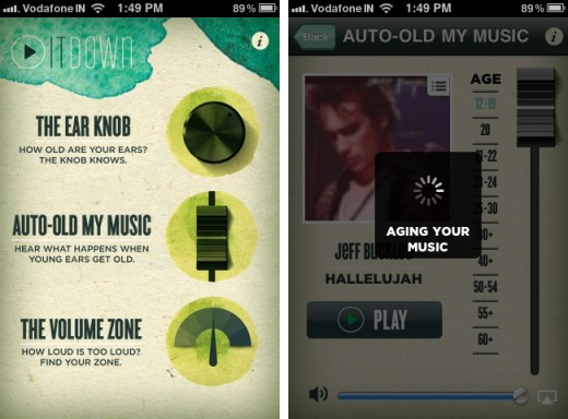 turn it down 1 520x384 Play It Down for iPhone lets you test your hearing and helps preserve it