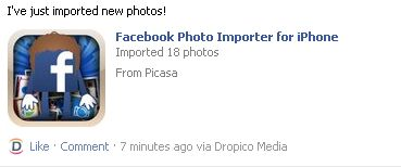 wall1 Facebook Photo Importer lets you transfer hundreds of photos in minutes