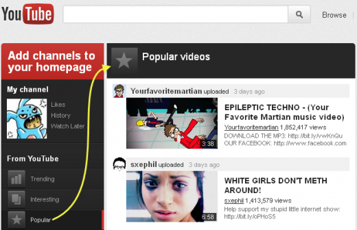 13 11 2554 21 19 56 520x336 YouTube tests redesign highlighting Google+ videos, subscriptions & more