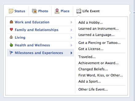 Convofy 10 Facebook wants you to add overly creepy Life Events to your upcoming Timeline