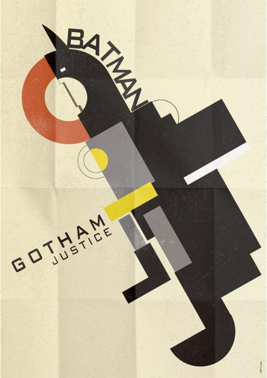 Deco Superhero Art Design Posters 6 520x735 Decorate your geeky lair with these cool art deco superhero posters