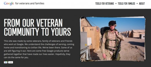 Google for Veterans and Families 520x230 Google launches Google For Veterans to honor Veterans Day