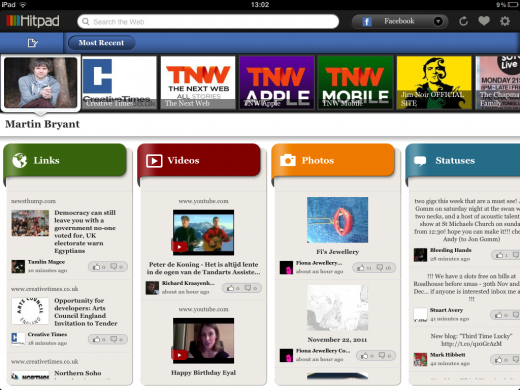 IMG 0280 520x390 Hitpad aims to fight Facebook information overload with its updated iPad app