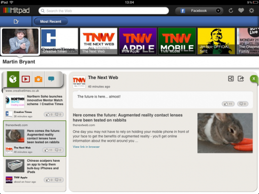 IMG 0281 520x390 Hitpad aims to fight Facebook information overload with its updated iPad app