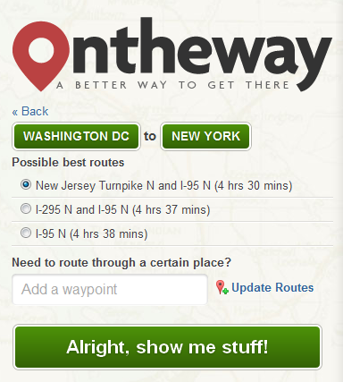OTW2 OnTheWay: This Web App Helps You Plan Your Road Trip