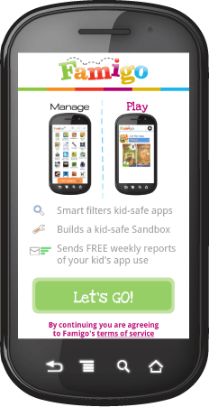Phone Famigo Sandbox creates a kid safe gaming environment on your Android phone