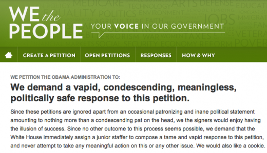 Screen Shot 2011 11 07 at 12.51.04 520x299 Best petition to Obama ever?