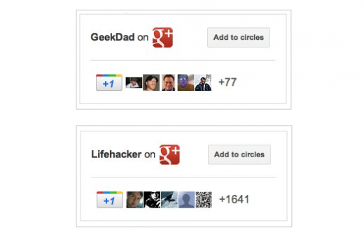 Screen Shot 2011 11 09 at 12.09.36 PM 520x342 Google rolls out Google+ badges to preview group, qualifies for G+ Direct Connect
