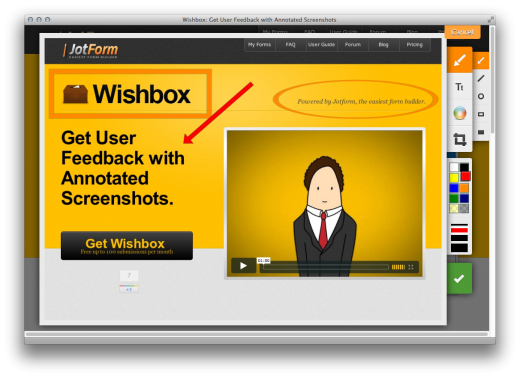 Screen Shot 2011 11 22 at 4.31.15 PM 520x378 Wishbox brings the Google+ style of user feedback to your Website
