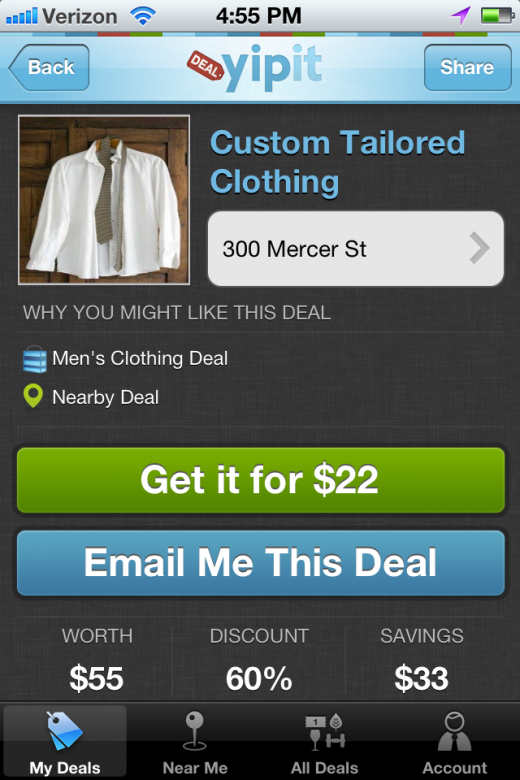 YipitApp 5 520x780 Yipit Launches its First iPhone App to Aggregate Daily Deals