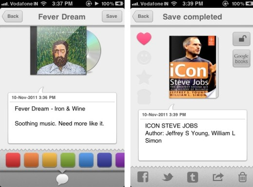 flava 2 520x384 Flava is a fun and quirky journaling app for the iPhone