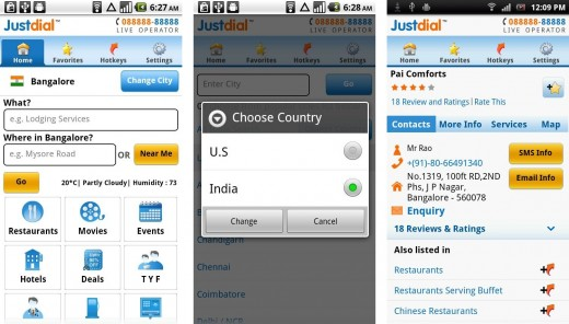 justdial android 1 520x296 Local search engine Justdial launches Android app for India and USA