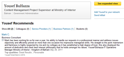 linkedin Is a British firm helping Bahrains Ministry of Interior monitor online activity?