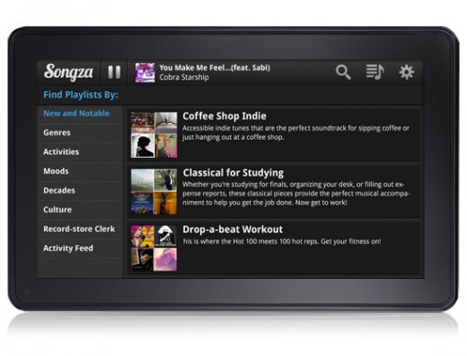 songza app playing 2 520x397 9 Apps to Download on Your Kindle Fire