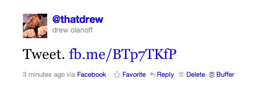 tweetdrew2 Anyone can now link their Facebook profile to Twitter. Heres how