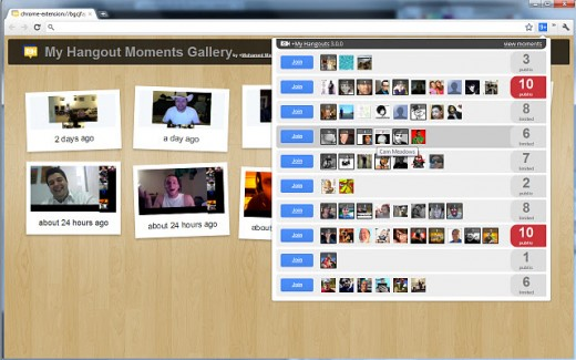 unnamed 2 520x325 Want to know who is hanging out in Google+ right now? Try this Chrome extension