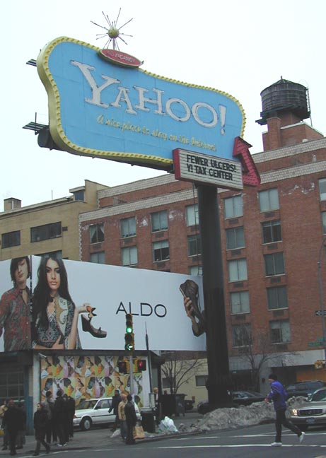 yahoo billboard new york Yahoo to Vacate Iconic San Francisco Billboard in 2 Weeks