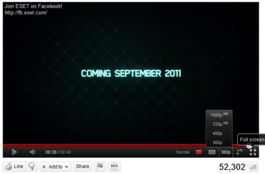 youtube html5 full screen 520x342 YouTube's HTML5 player steadily gaining ground on Flash