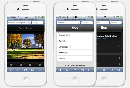 500px 500px launches sleek, native portfolios for iPhone and Android