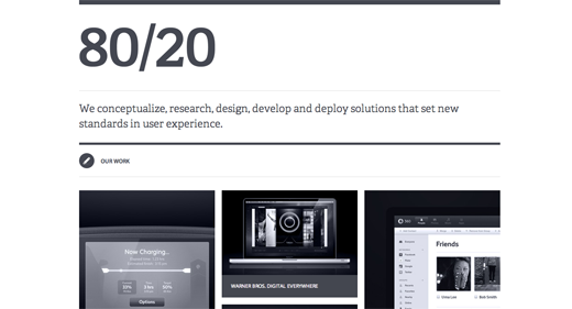 8020 9 Gorgeous examples of black and white websites
