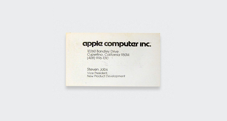 Apple Steve Jobs Business Card Digital Business Cards? Dont hold your breath...