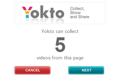 Collect5Videos Yokto brings its video collation tool to Facebook, launches browser bookmarklet too